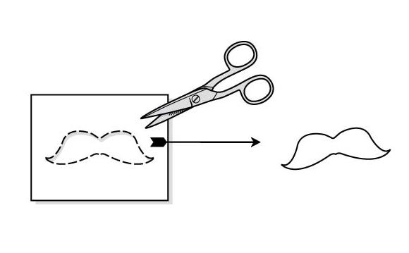 Как сделать усы из бумаги на резинке