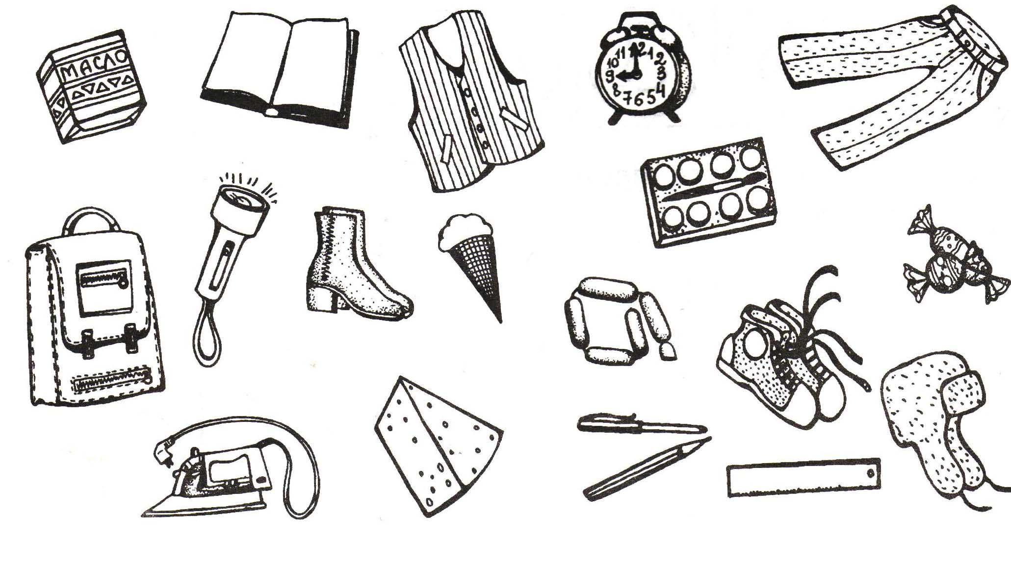 картинки с рисовать предметы механизм купленного дивана
