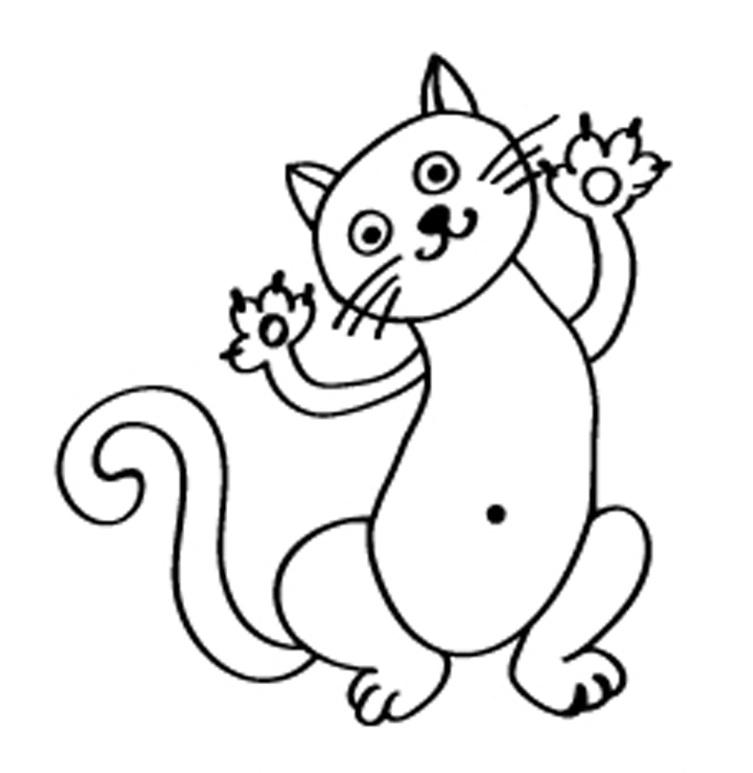 Раскраски котиков для детей