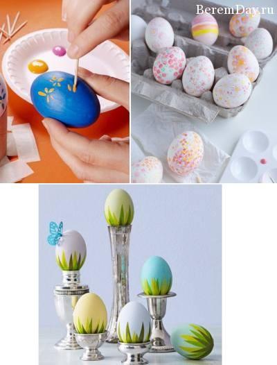 Пасхальные яйца как украсить